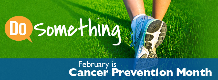 Cancer Prevention Month with running feet