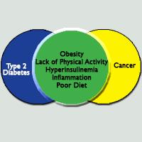Cancer Diabetes Round Venn