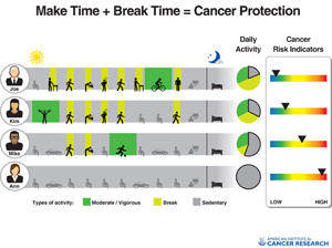 make time + break time = cancer protection