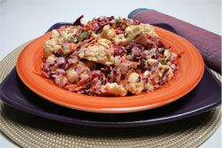 Cauliflower, Cabbage, Carrot salad