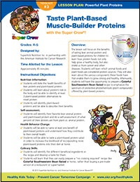 Healthy Protein Lesson Plan