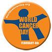 World Cancer Day Button logo