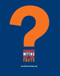 Cancer Myths Get the facts question mark logo