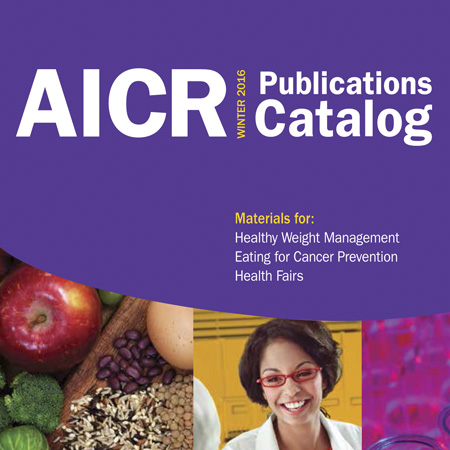 AICR Publications Catalog cover