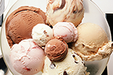Ice Cream in Big bowl with Lots of flavors