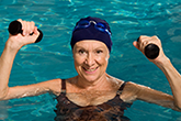 Older Woman doing Pool Excercise