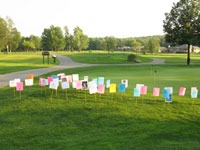Michaywe golf course with Memorial Signs