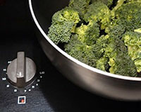 Broccoli Cooking on a Stove