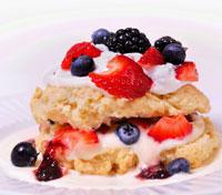 mixed berry shortcake