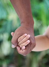 Holding Hands, Adult Child,  in Color