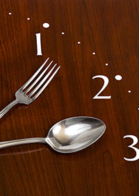 Fork and Spoon as clock hands