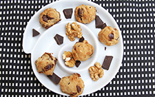 Date, Walnut and Dark Chocolate Cookies