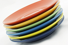 Colorful Plates, Stacked