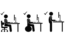 Office Workers Moving Icons