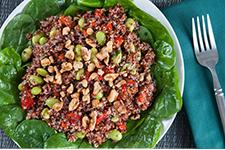 Quinoa Edamame Walnut Salad