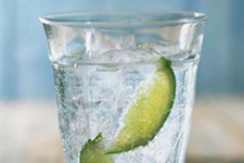 Water in a Glass with Lime
