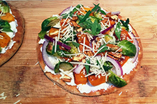 Winter Veggie Pita Pizza