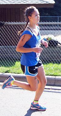 Sabrina running