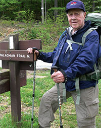 Earl Zook on the Appalachian Trail