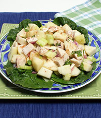 Chicken and Pear Salad with Mint Dressing