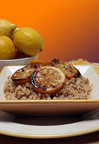 Lemon Brown Rice Pilaf