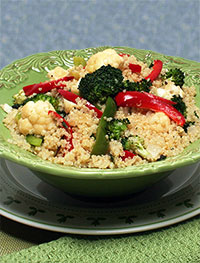 Quinoa with Cauliflower and Broccoli