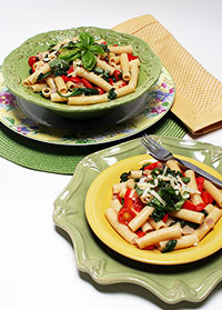 Rigatoni and Red Peppers