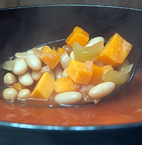 Sweet Potato and Bean Soup