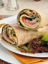 Turkey, Spinach and Apple Wrap