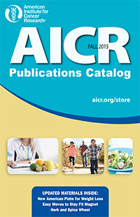 current AICR Publications Catalog cover