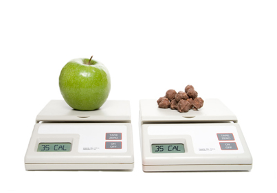apple chocolate scale