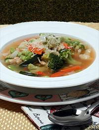 8 veg soup