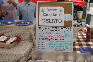 gelato food stand