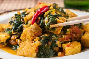 vegan, A Vegan Saag Packed with a Medley of Cancer-Protection