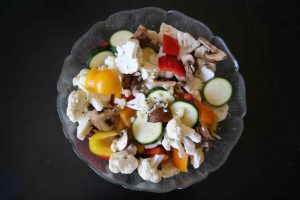 , Balsamic grilled veggies, simple, quick and packed with flavor