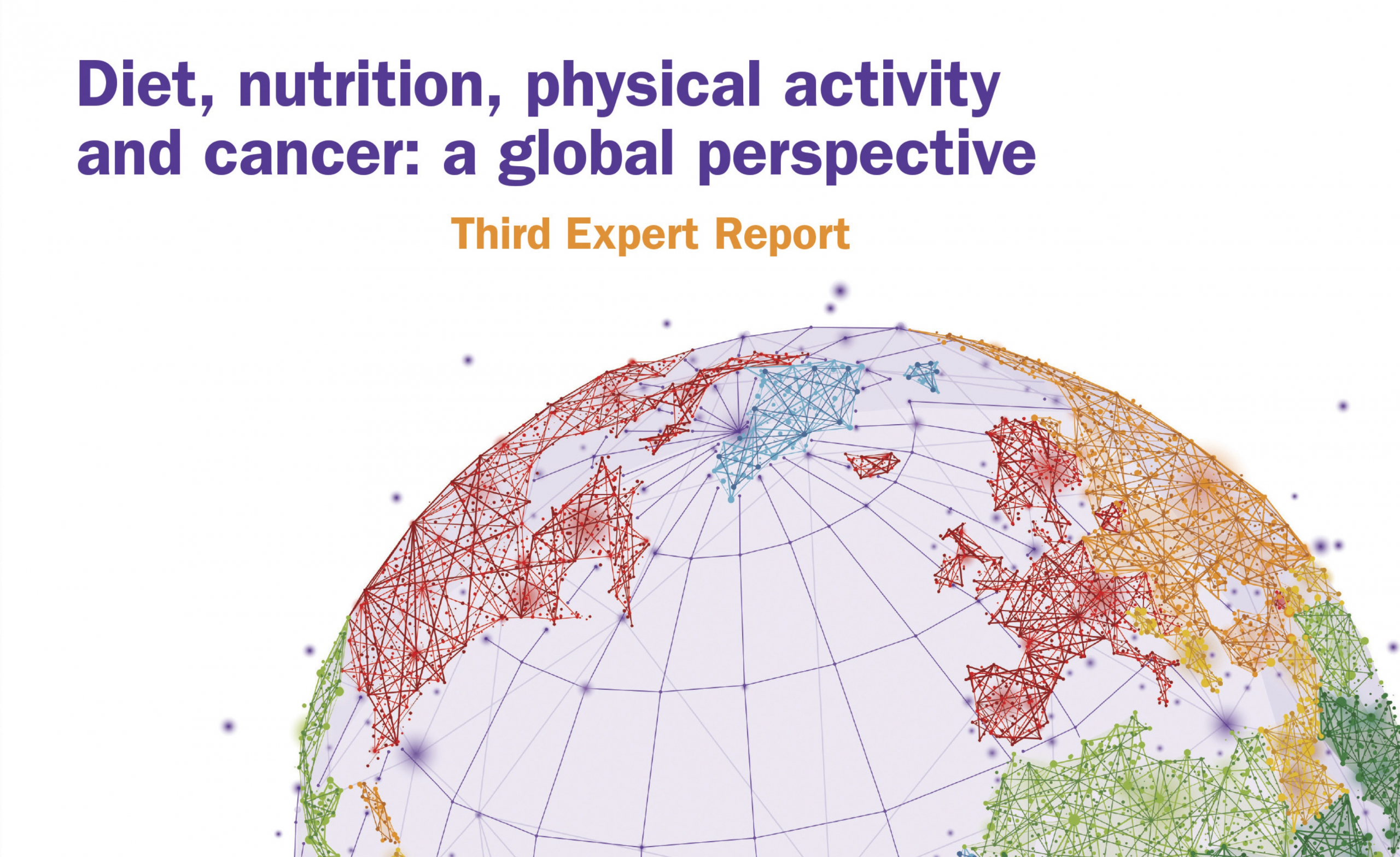 Third expert report banner on diet, nutrition, physical activity, and cancer