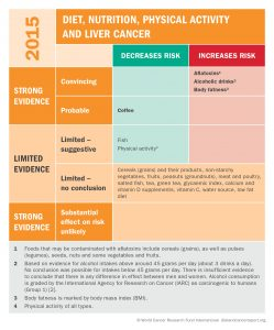 diet, nutrition, physical activity, and liver cancer