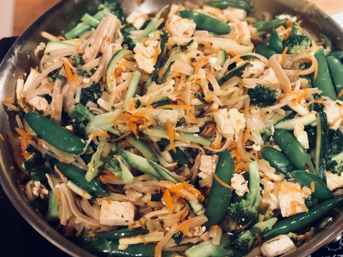 take out, Fresh and Light Veggie Pad Thai