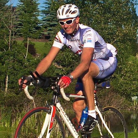 """Nigel in athletic gear looking fantastic while participating in """"The Ride"""""""