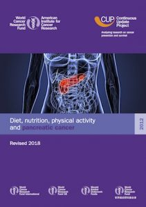 CUP report on diet, physical activity, and pancreatic cancer title page