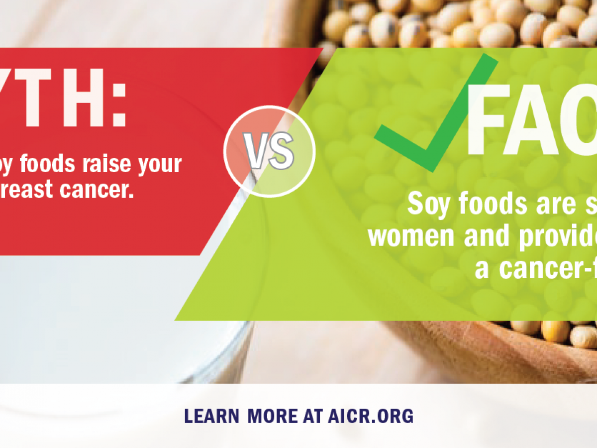 Soy And Cancer Myths And Misconceptions American Institute For Cancer Research